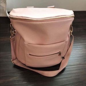 Fawn design blush colored diaper bag